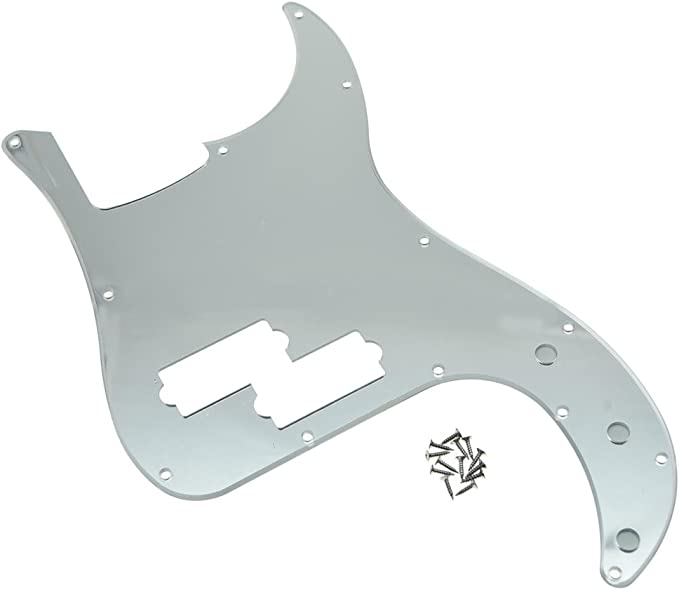 Dopro 13 Hole 3D Printed plastic pickguard with Screws PB Bass Scratch Plate Fits USA//Mexican Fender Flower Pattern