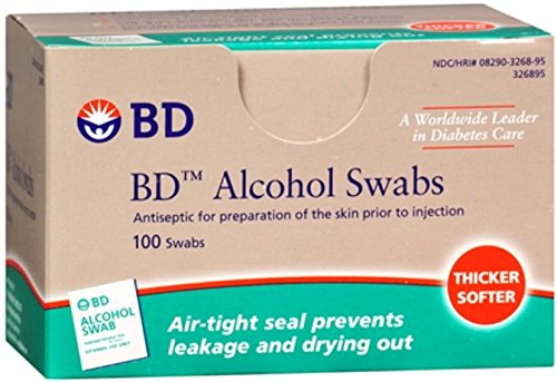 - BD Alcohol Swabs 100 Each (Pack of 8)