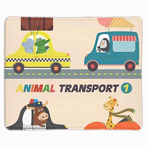 se Pad - Personality Mouse Pads with Design - Non Slip Rubber Mouse Mat - Isolated Transports with Animals Part ()