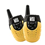 Kid's Walkie Talkie,Portable Two-way Long Range Radios Rechargeable Interphone for Children Outdoor Playing Walkie Talkies Toy. Yellow (Pair)