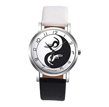 Relojes para mujer, ICHQ Relojes de cuarzo con patrón de gato para mujer, relojes de pulsera baratos: Amazon.es: Hogar