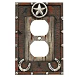 Star & Horseshoe Outlet Cover