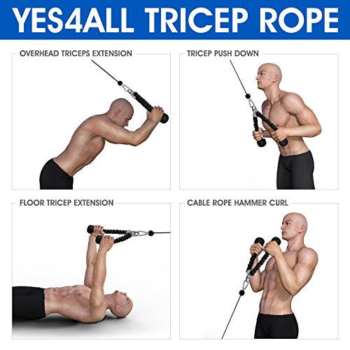 Yes4All Tricep Rope - Exercise Machine Attachment Press Down - 27'' Rope Length by Yes4All (Image #6)