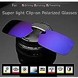 Polarized Clip On Sunglasses Sun Glasses Driving Night Vision Lens