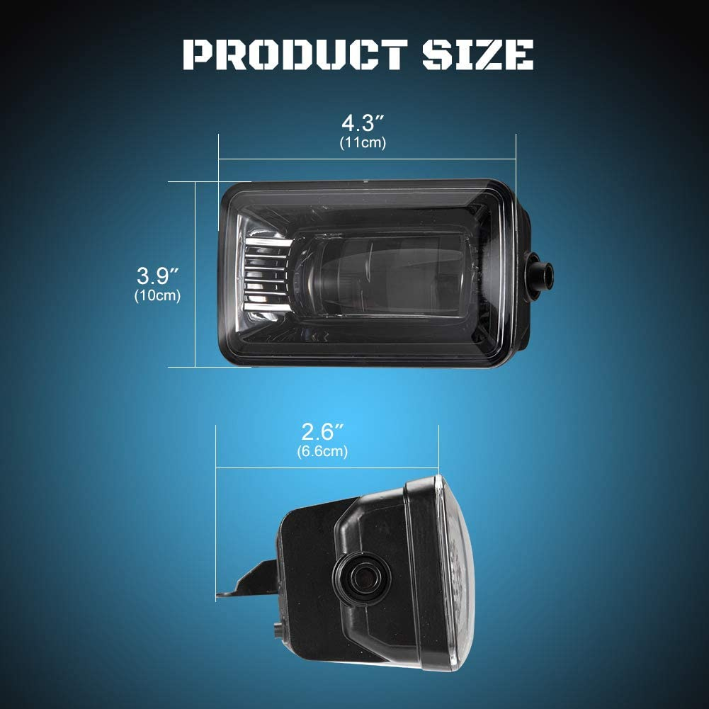 A/&UTV PRO Upgrade DRL 4 Inch Bumper Lights 42W Cree Compatible with 2015-2020 Ford F150 F150 LED Fog Light Assembly