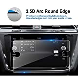 LFOTPP 2018 Volkswagen Tiguan 8 Inch VW Tempered Glass Car Navigation Screen Protector, [9H] Infotainment Center Touch Display Screen Protector Anti Scratch High Clarity