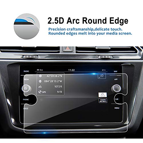 LFOTPP Replacement for 2018 2019 Volkswagen Tiguan 8 Inch Tempered Glass Car Navigation Screen Protector, Infotainment Center Touch Display Screen Protector Anti Scratch High Clarity