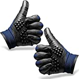 DANDY PET GROOMING GLOVES For Dogs, Cats, Horses, and Livestock - Grooming Brush, Massage, Bathing and Gentle Deshedding Glove - Cat Brush, Dog Hair and Fur Remover Mitt, Pet Deshedding Glove (1 Pair)