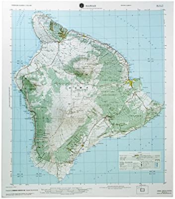 American Education Raised Relief 3D map of HILO, Hawaii ...