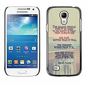 SAMSUNG Galaxy S4 mini (NOT FOR S4!!!) / i9190 / i9192 , Radio-Star - Cáscara Funda Case Caso De Plástico (Marcel Pagnol - Deep Message)