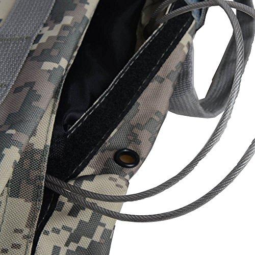 anhorng Tactical Weste Verstellbare Combat Weste, Outdoor Schutz Airsoft-Weste Brustschutz, plate Carrier Weste Sport Kleidung mit herausnehmbare Beutel für die Jagd Airsoft Paintball CS Jacke #8 Jungle Digital