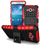 G530 Case,G530H Case,YiLin [Kickstand] Red Armor Case [Shock-Absorption] Dual Layer Defender Protective Case Cover for Samsung Galaxy Grand Prime G530H/DS , Red