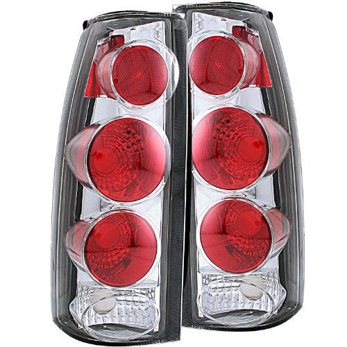 Anzo USA 211017 Chevrolet 3D Style Chrome Tail Light Assembly - (Sold in Pairs) (Chrome Tail Light Cover Escalade compare prices)