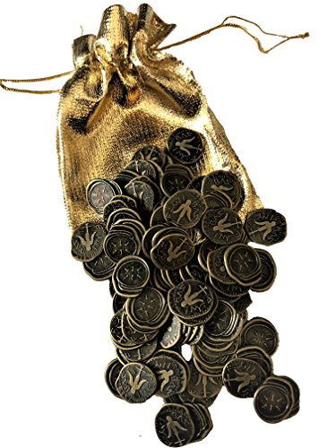 (100pcs of Ancient Widow's Mite Coin,widows Mites Coins Roman Reproduction Antique Bronze Coins by Glary)