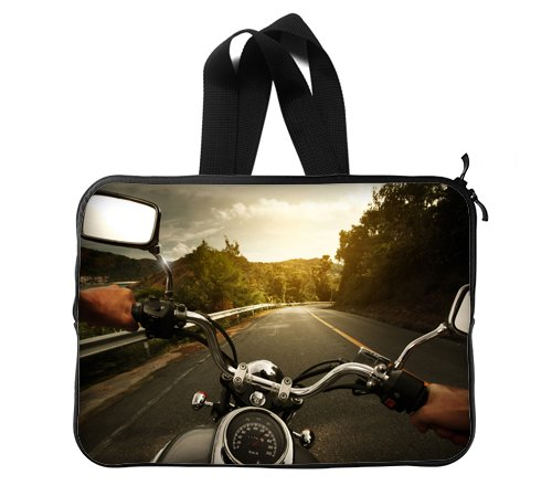 Motorcycle Ride Customized Home and Office Large Size Laptop Sleeve Printing Twin Sides (Big Twin Cycles)