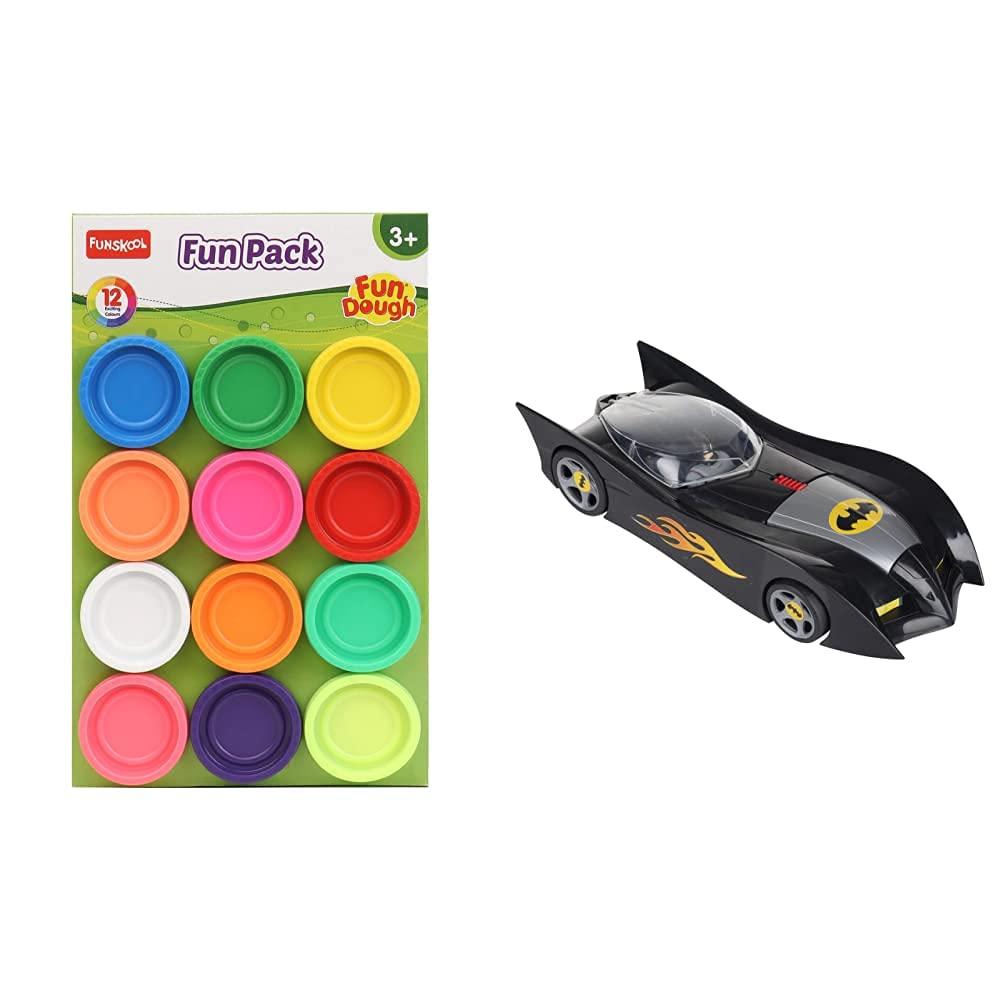 Funskool-Fundough Fun Pack, Multi Colour & Funskool - 6393500 Batman Batmobile