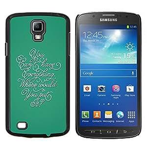 LECELL--Funda protectora / Cubierta / Piel For Samsung Galaxy S4 Active i9295 -- Caligrafía Todo trullo Pensamiento Inspiring --