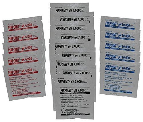 Pinpoint Ph Probe - Pinpoint High-Precision pH Calibration Fluids Kit (pH Buffer Solution), 20 Piece Set - 4.000, 7.000, 10.000