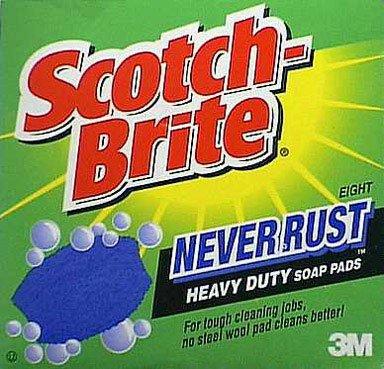scotch brite never rust soap pads - 1