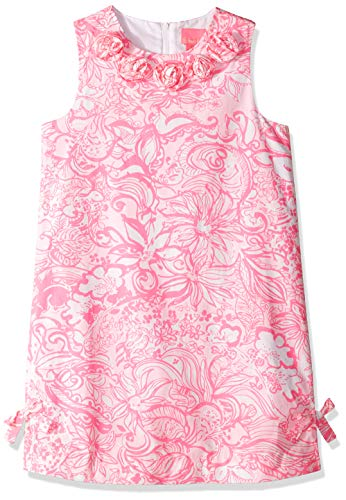 Lilly Pulitzer Girls Little Lilly Classic Shift, Pink Tropics Tint Bunny Hop 8 from Lilly Pulitzer