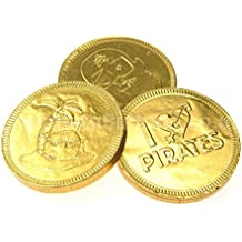 Milk Chocolate Coins Milk Chocolate 38Mm Gold Pirate Coins (Pack Of 10)