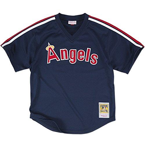 Mitchell & Ness 'Reggie Jackson - California Angels' Authentic Mesh BP Jersey Blue 40