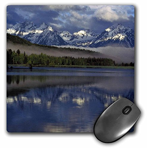 3dRose LLC 8 x 8 x 0.25 Inches Mouse Pad, Wyoming, Grand Teton. Reflection on Lake Marilyn Parver (mp_97501_1) (Grand Reflections)
