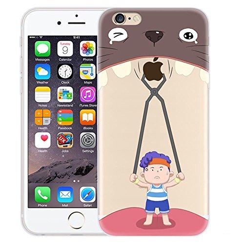 Custodia iPhone 6 Plus / iPhone 6S Plus , LH Estrazione Del Dente Creativo TPU Trasparente Silicone Cristallo Morbido Case Cover Custodie per Apple iPhone 6 Plus / iPhone 6S Plus 5.5