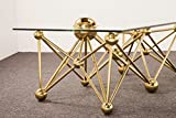 Brass and Glass Coffee Table ATOMIUM Glass Coffee Table, Brass Round Ball Coffee Table Base,Marble Coffee Table, Coffee Table Base, Polished, Brass, Unique Coffee Table from Ivadecorstudio