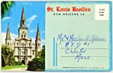 St. Louis Basilica Cathedral - New Orleans Louisiana (1950's Souvenir Curt Teich Postcard Folder) #D-12640