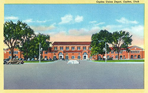 Utah Ogden Union (Ogden, Utah - Exterior View of the Ogden Union Depot (12x18 SIGNED Print Master Art Print w/ Certificate of Authenticity - Wall Decor Travel Poster))