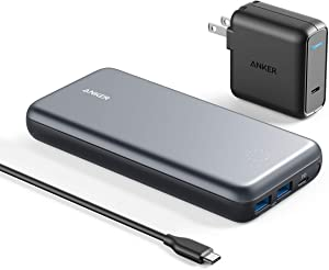 Anker PowerCore+ 19000 PD Hybrid Portable Charger and USB-C Hub with Included USB-C Wall Charger, Power Delivery Power Bank Compatible with Nexus 5X / 6P, iPhone Xs/XR/X / 8, MacBooks, and More