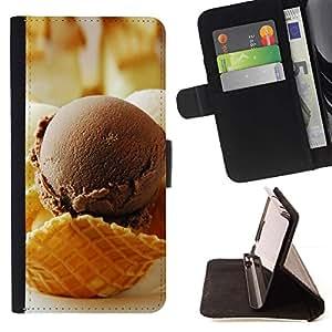 Momo Phone Case / Flip Funda de Cuero Case Cover - Chocolate Crea Hielo;;;;;;;; - Sony Xperia Z3 D6603