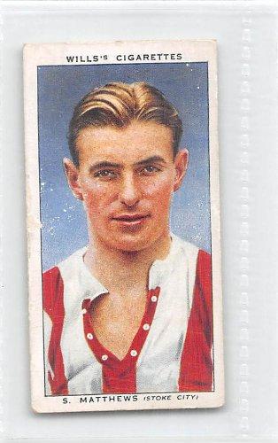 Stanley Matthews - Stoke City FC 1939 Wills Cigarettes Association Footballers #34 (FAIR)