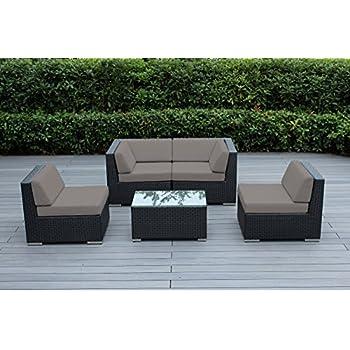 Amazon Com Ohana 5 Piece Outdoor Patio Wicker Furniture