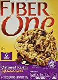 General Mills, Fiber One, Soft Baked Cookies, Oatmeal Raisin, 6.6oz Box (Pack of 4)