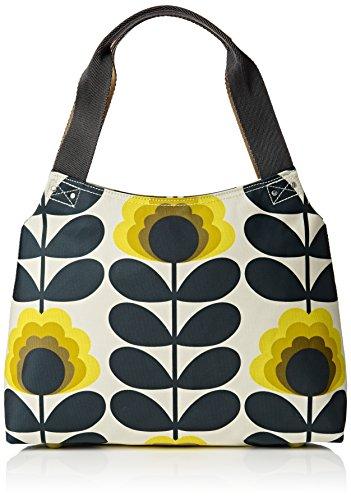 Orla Kiely Summer Flower Stem Classic Zip Shoulder Bag, Sunshine by Orla Kiely