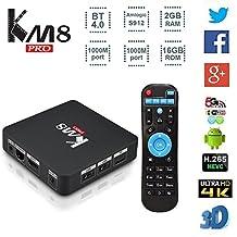 MaQue Box KM8 PRO Smart TV Box Android 6.0 Amlogic S912 Octa-core 64 Bit 2GB 16GB VP9 H.265 UHD 4K Mini PC 2.4G & 5G Wi-Fi 1000M LAN Airplay Miracast Bluetooth 4.0 HD Set-Top Box