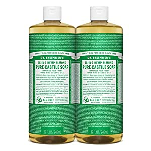 Dr Bronner's Organic Almond Castile Liquid Soap, 946 ml – Pack of 2