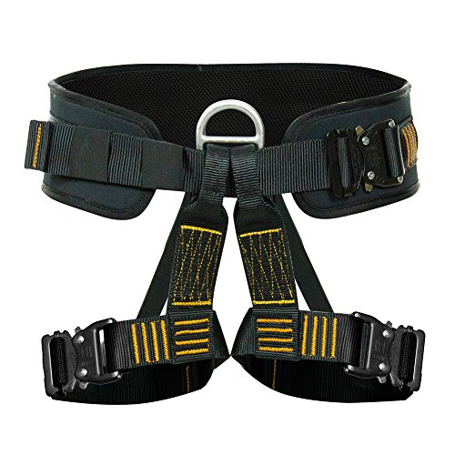 Fusion Climb Apollo III Military Tactical Padded Half Body Adjustable Zipline Harness 23kN M/L Black