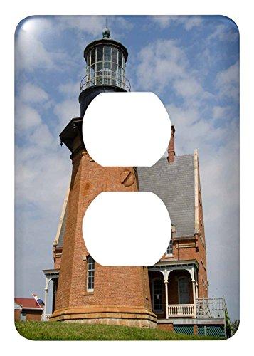 3dRose lsp_207442_6 Rhode Island, Block Island, Mohegan Bluffs, Southeast Lighthouse. - 2 Plug Outlet Cover ()