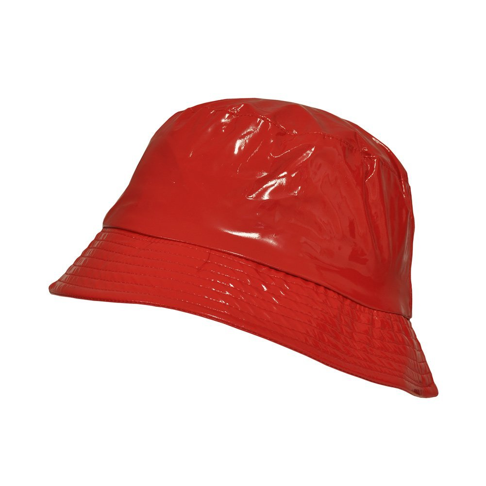 TOUTACOO, Waterproof Wax Style Bucket Rain Hat 05-Red