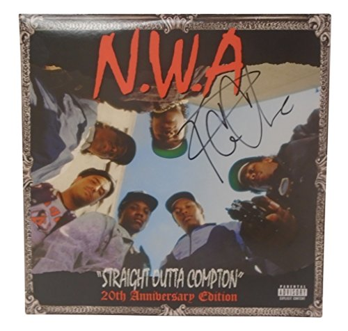Ice Cube Signed Hand Autographed NWA Straight Outta Compton 20th Anniversary Edition Vinyl Record LP Album Cover with Proof Photo of Signing and COA