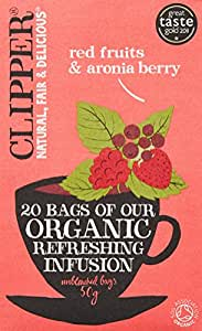Clipper Tea - Herbal Infusion - Organic Infusion Red Fruits with Aronia Berry - 20 Bags