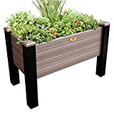 Gronomics MFEGB 24-48 BW Maintenance Free Elevated Garden Bed, 24'' x 48'' x 32''/12.5'', Black/Walnut