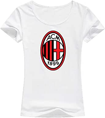 AC Milan T-Shirt For Women, Size L, Color White