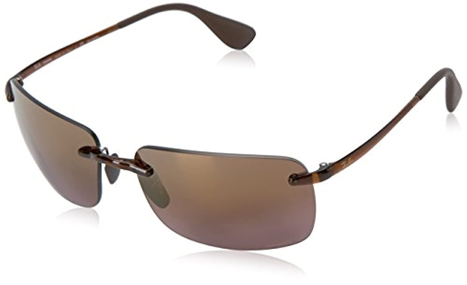 2c1d776618d88 Amazon.com  RB RB4255 Shiny Black Grey Mirror Silver Polarized 60mm    Carekit  Clothing