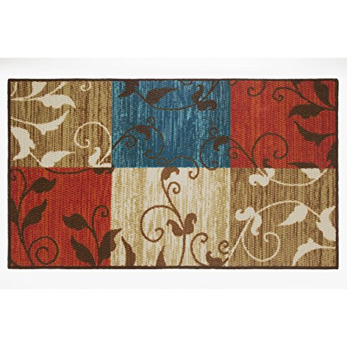ine Squares Decorative Area Accent Rug, 26 by 45-Inch ()