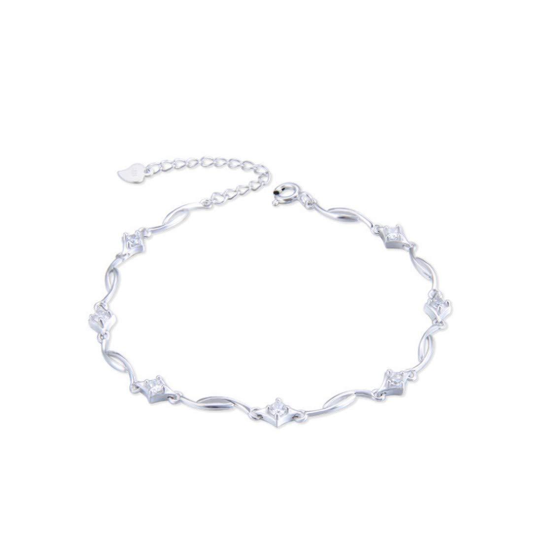 YYYYYAレディースブレスレットS925シルバーファッショナブルなシンプルな幾何学優雅な女性の結婚式の宝石類女性の宝石類のギフト   B07M86GG33