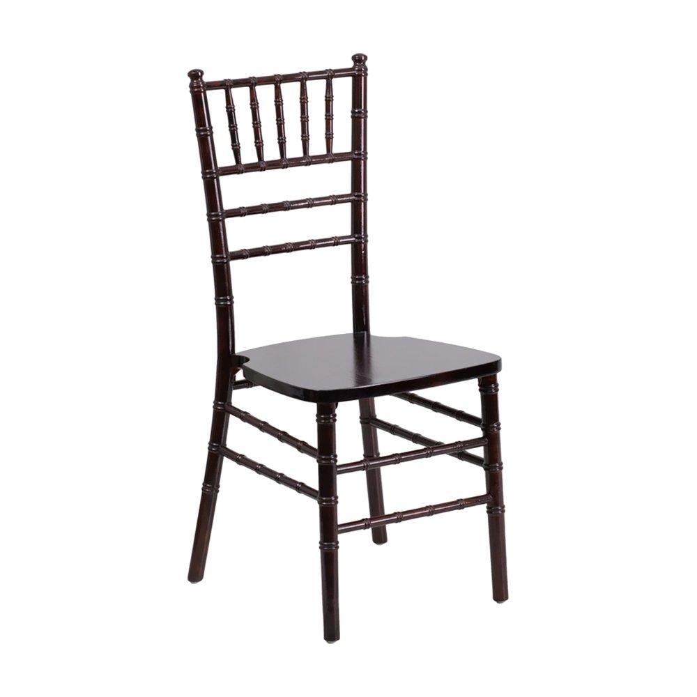 Offex OFX-249762-FF Lightweight Elegant Walnut Wood Chiavari Chair